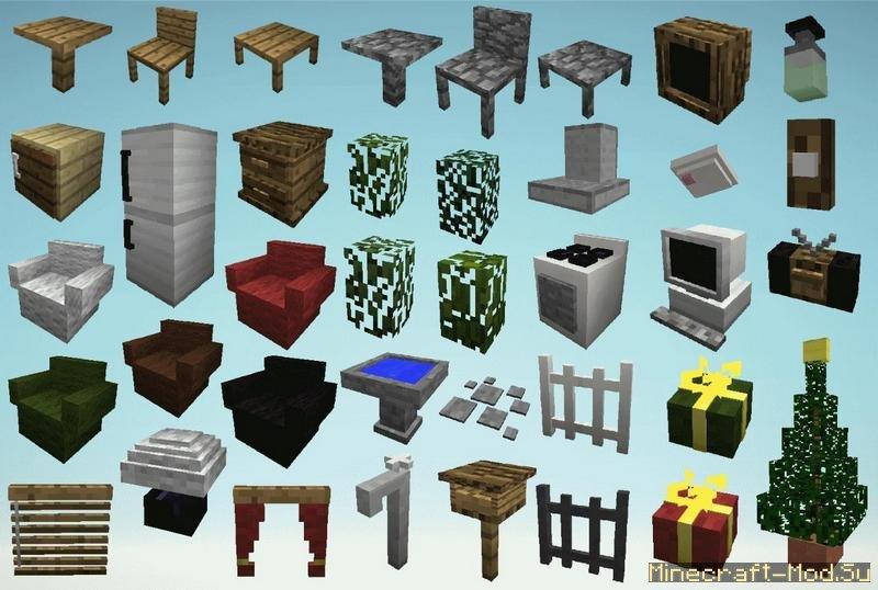 скачать моды на мебель для майнкрафт 1.6.4