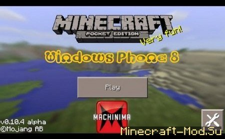 Minecraft 0.10.4 Windows Phone (WP 8.1)