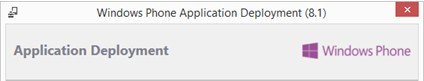 Application Deployment 8.1 (WP)