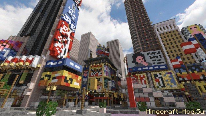 Карта для Майнкрафт Город Нью Йорк